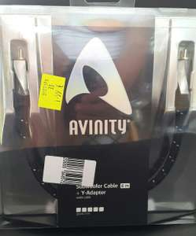 Sélection de câbles Hi-fi Avinity en promo - Ex: Câble subwoofer + Adaptateur Y (4m)