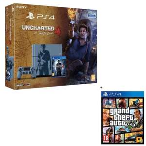 Pack PS4 1 To Edition limitée Uncharted 4 A Thief's End + Grand Theft Auto V
