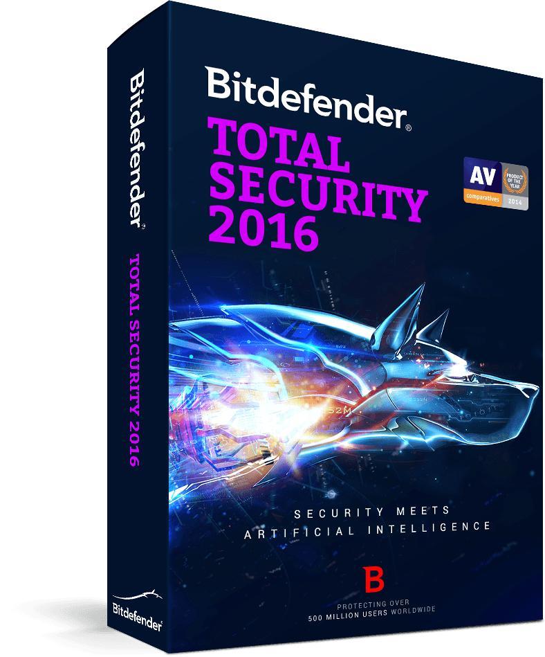 Antivirus Bitdefender Total Security 2016 - Abonnement 6 Mois Gratuit