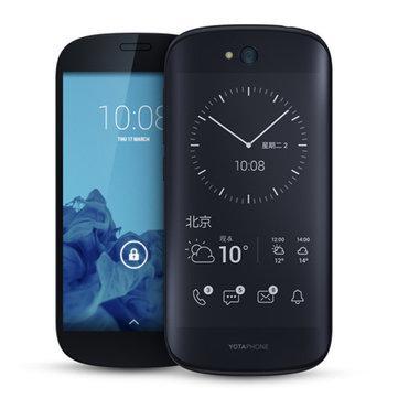 "[Précommande] Smartphone 5"" Yotaphone 2 4G/LTE Noir - Dual Screen 1920x1080 + E-Ink, Snapdragon 801 2,2 GHz; RAM 2Go, 32Go, Android 5.0"