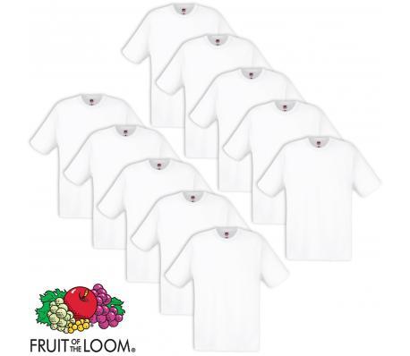 Lot 10 T-shirts Fruit Of The Loom Noir ou Blanc ou Multicolore