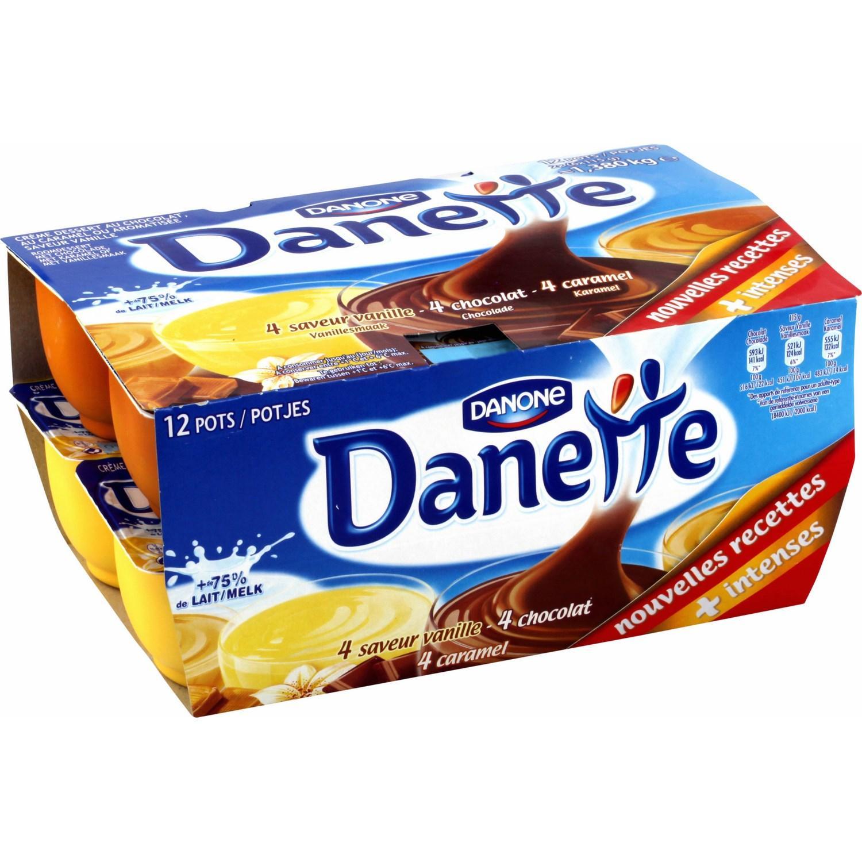 Lot de 12 pots danette de Danone (via BDR)