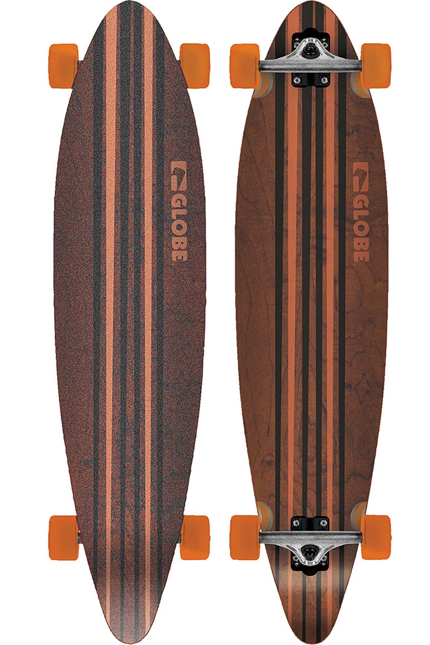 Longboard Globe Pinner - Noir / Orange