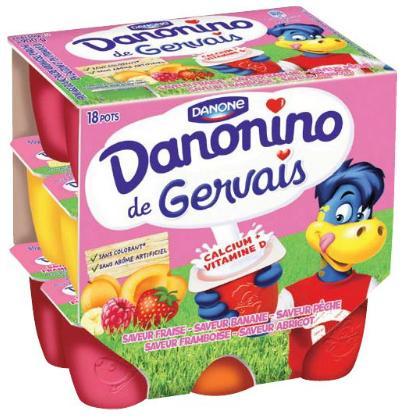 Lot de 18 petits pots Danonino de Gervais - 900g (via BDR)