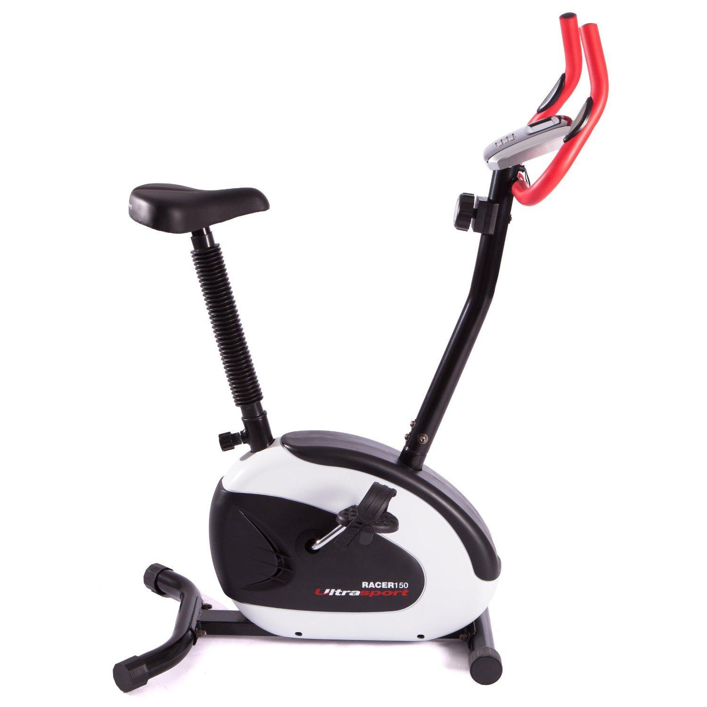 Vélo d'appartement Ultrasport Racer 150 avec capteurs de pouls tactiles - 95 x 54 x 127 cm