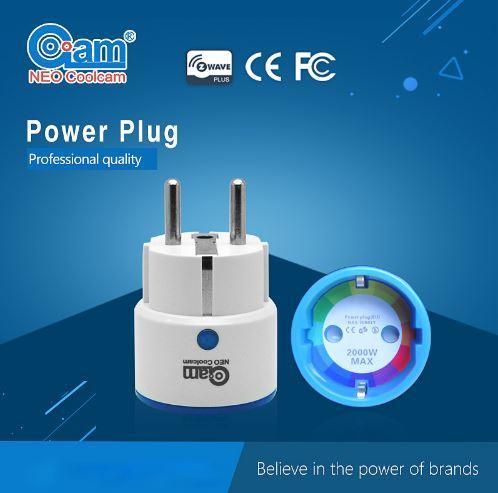 Prise compatible Z-Wave avec indication de la consommation électrique