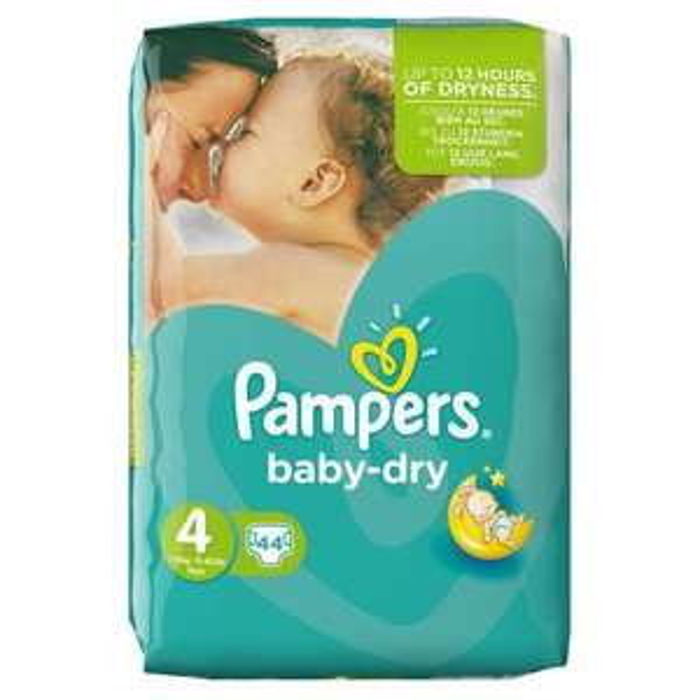 Lot de 3 Packs de 44 Couches Pampers Baby-Dry (+7.67€ en bon d'achat)