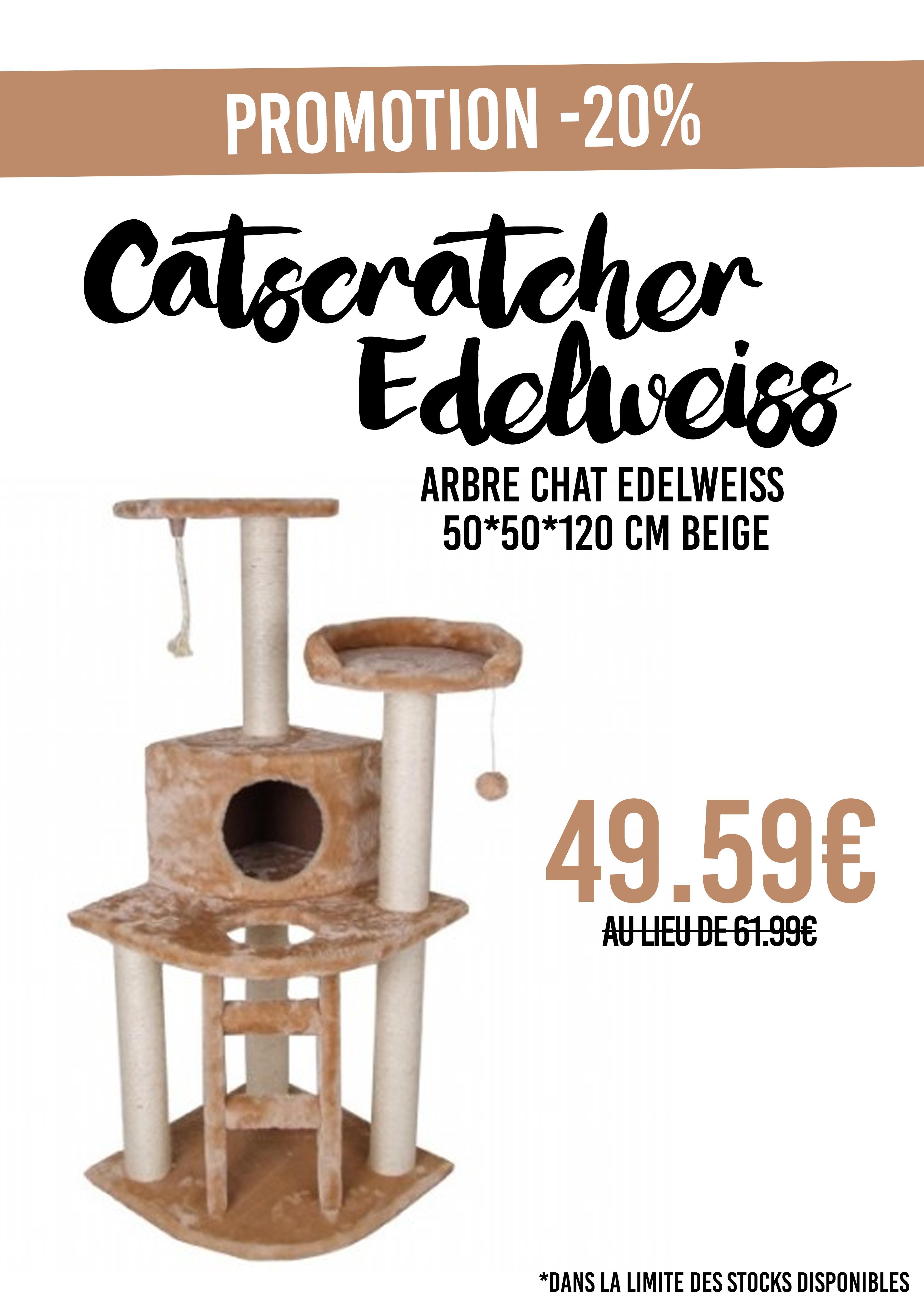Arbre à chat Edelweiss (50 x 50 x 120 cm)