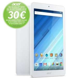 "Tablette 8"" HD  Acer Iconia One 8 B1-850-K1VK  (MT8163, 1 Go RAM, 16 Go ROM, port Micro SD) (via ODR 30€)"