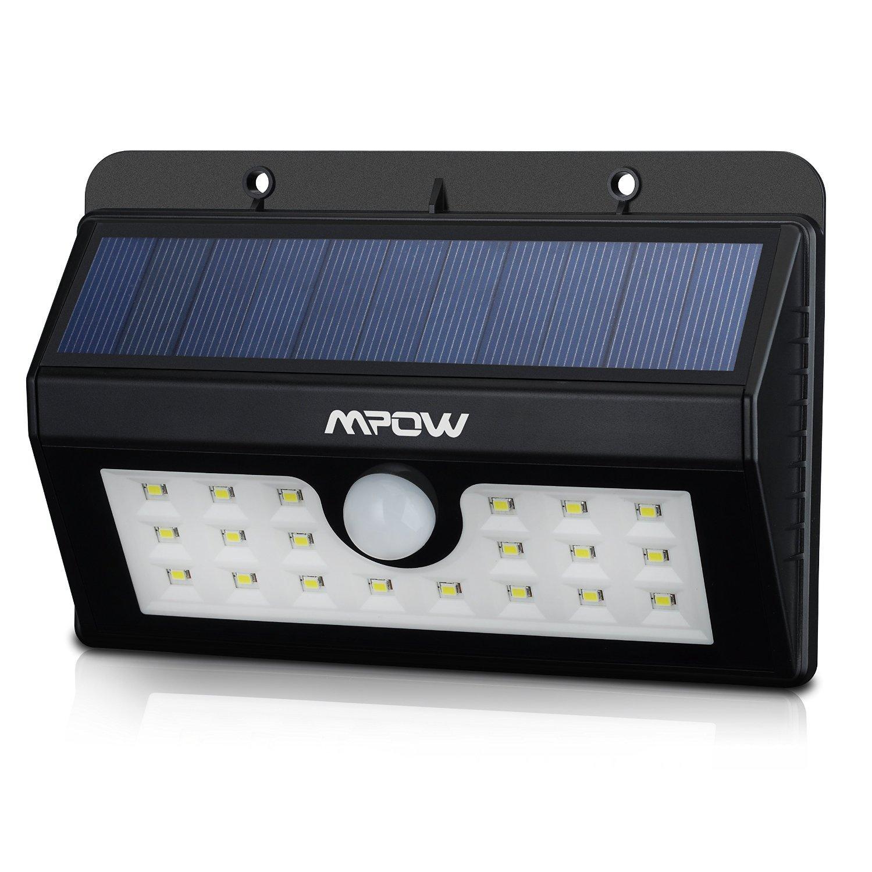 Lampe solaire Mpow de 20 LED - détection de mouvement