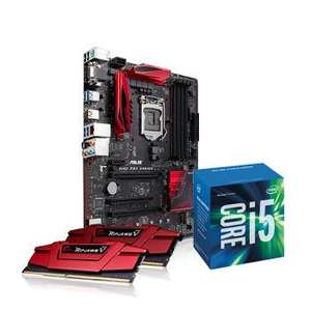 Kit d'évolution PC (Intel Core i5 6600, Carte mère Asus B150 Pro Gaming, 16 Go Ram)