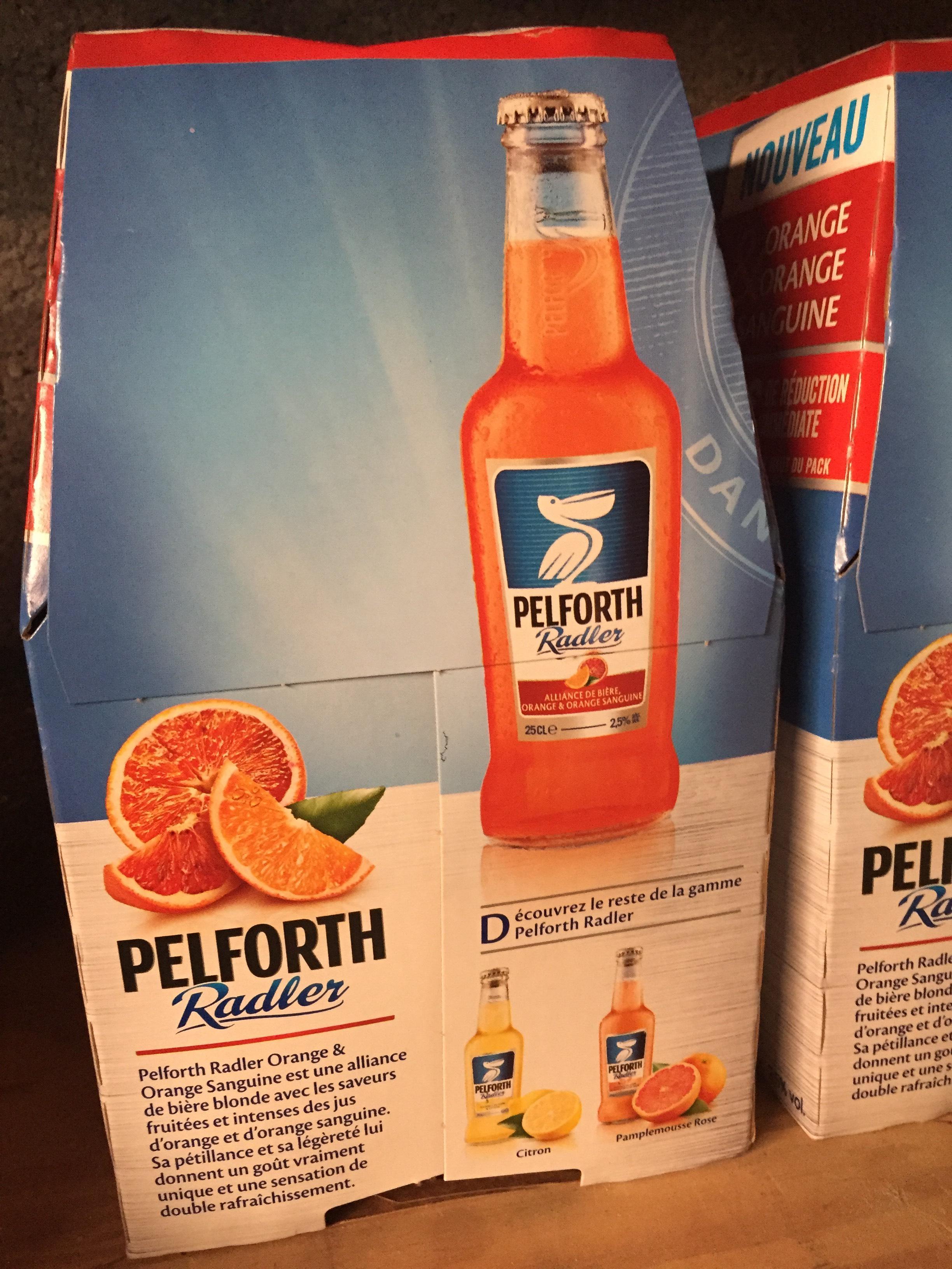 Lot de 2 pack de 6 bières Pelforth Radler Orange & Orange Sanguine - 25 cl (via BDR)