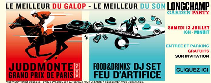 Garden party de Longchamp (courses PMU, Ambiance DJ, Feu d'artifice) Invitations pour entrées et parking gratuit