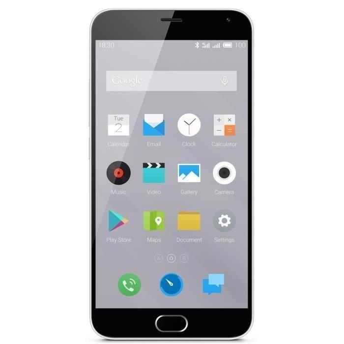 """Smartphone 5.5"""" Meizu M2 Note Blanc - 16 Go + 1 bon d'achat de 89.99€"""