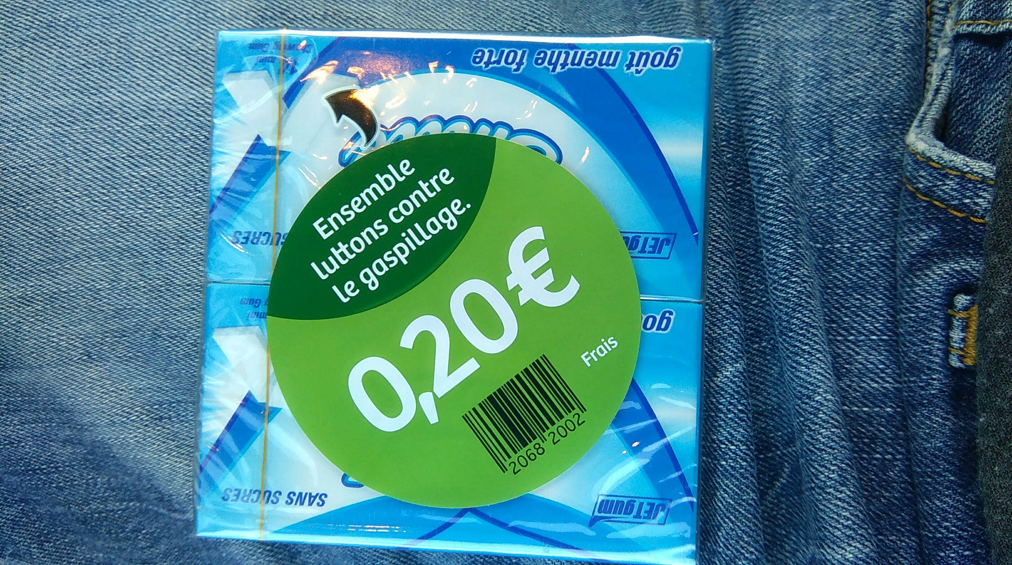 2 paquets de Chewing-gum Jet Gum Menthe Forte