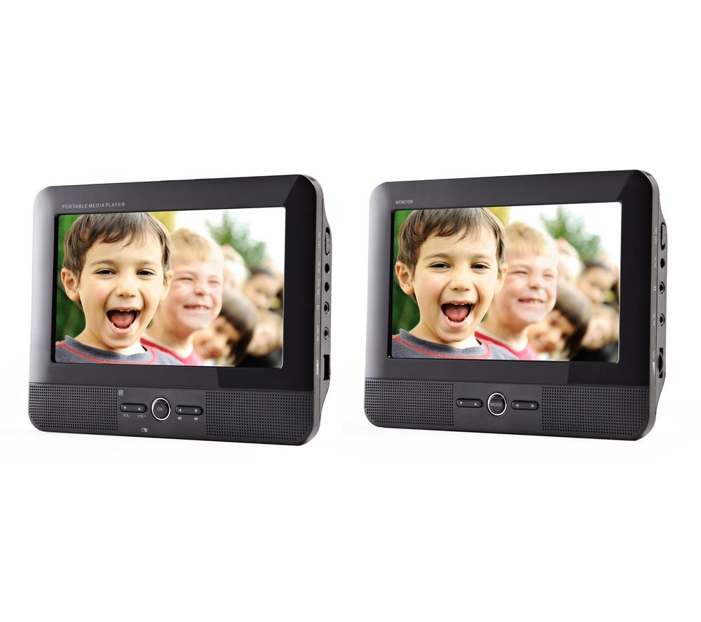 """Lecteur Portable PMP700T Double Ecran 7"""", Carte SD, Port USB"""