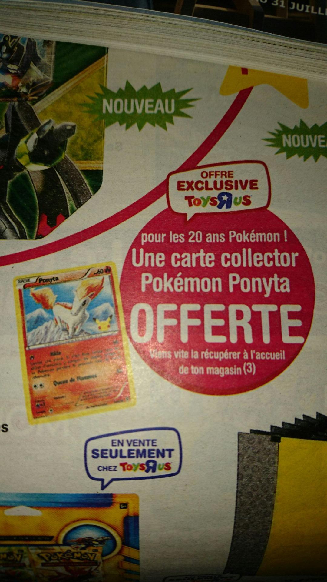 """[Carte """"R""""Us] Carte Pokémon Ponyta offerte à l'accueil"""