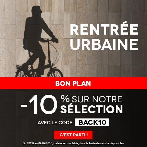 10% de remise immédiate sur une sélection de vélos et accessoires