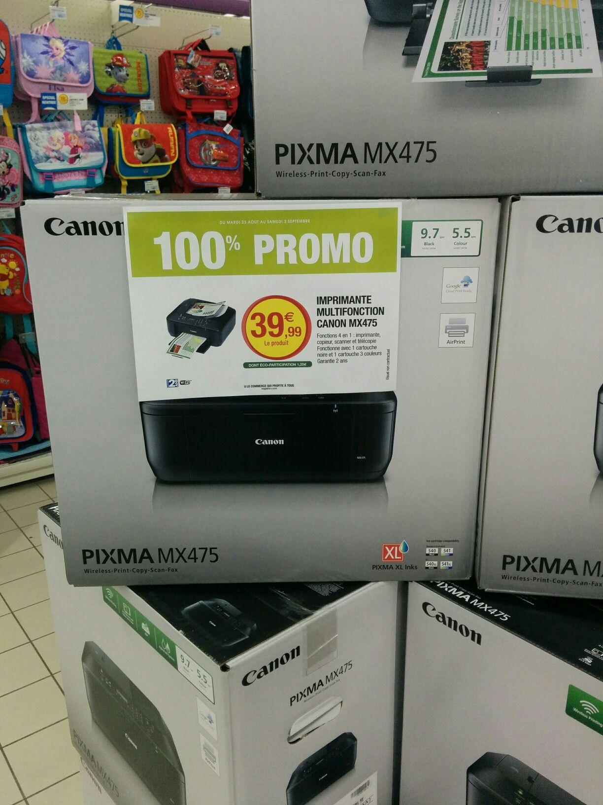 Imprimante multi fonction Canon MX475 - Jet d'encre
