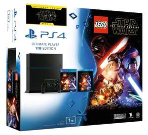 Console PS4 Jet Black 1 To + Lego Star Wars + Blu Ray : Star Wars The Force Awakens