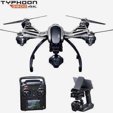 Drone quadricoptère Yuneec Typhoon Q500 5.8G FPV Caméra CGO3 4K avec nacelle brushless 3 axes intégrée