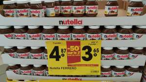 Lot de 2 pots Nutella 1 Kg