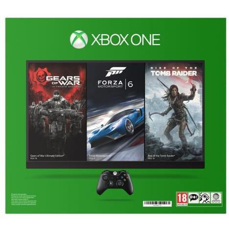 Console Microsoft Xbox One 1To + 1 Jeu au choix en dématérialisé (via 100€ sur la carte)