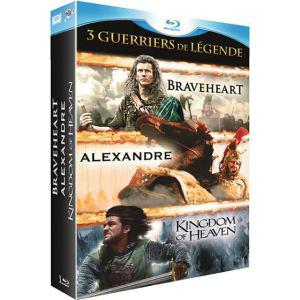 Coffret 3 Blu-Ray Braveheat, Kingdom Of Heaven, Alexandre