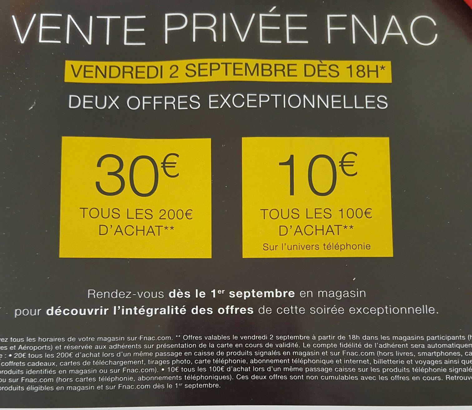 [Adhérents] Dès 18h : 30€ offerts en chèque cadeau par tranche de 200€ ou 10€ par tranche de 100€ sur la téléphonie