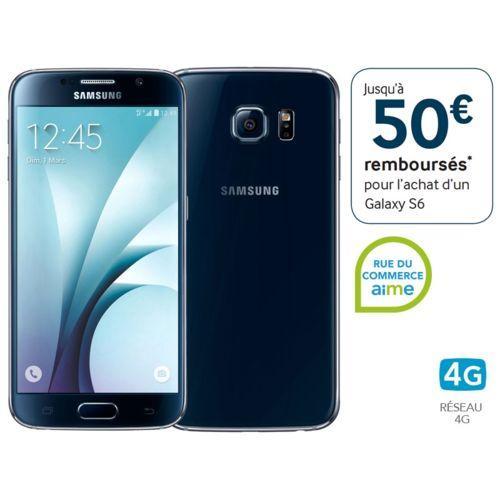 """Smartphone 5.1"""" Samsung Galaxy S6 - 32 Go, Noir (via ODR de 50€)"""