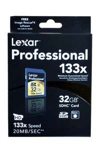 Carte mémoire Lexar Media SDHC 133X 32Go class 10 (5€ de port)