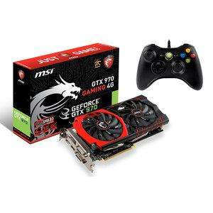 Carte graphique  MSI GeForce GTX 970 Gaming 4 Go + Manette Microsoft Xbox 360