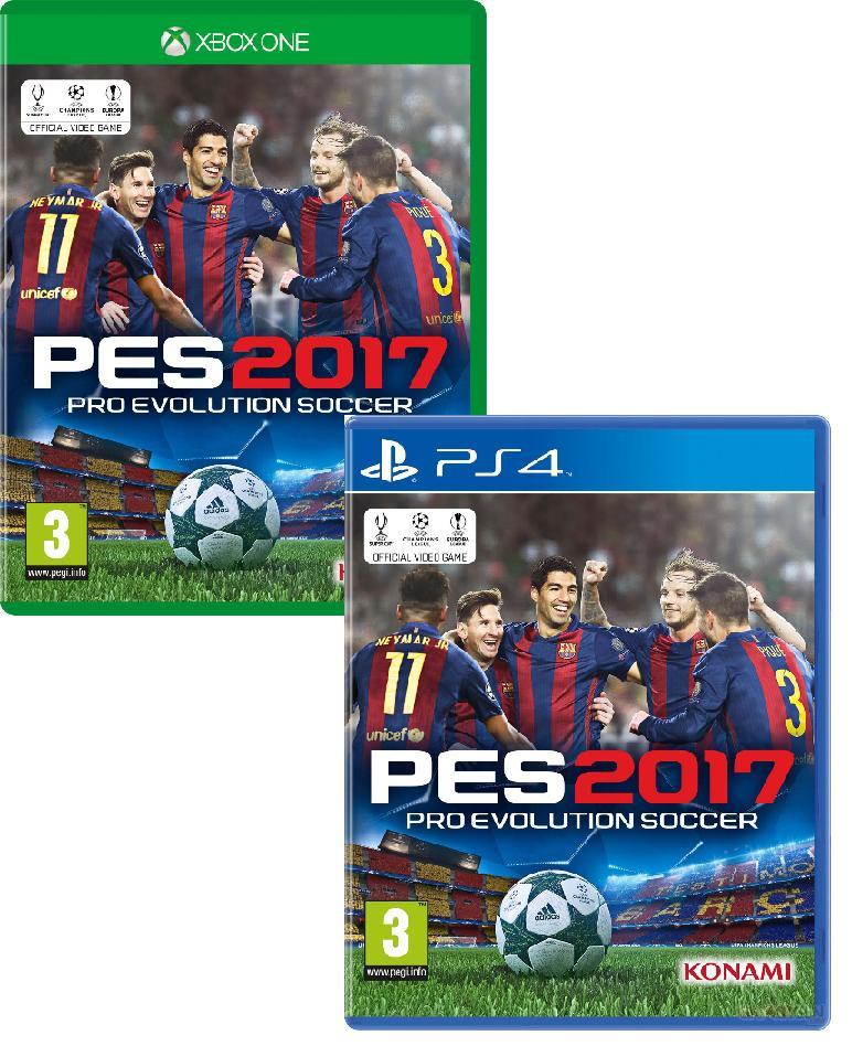 [Précommande] Pack de 4 jeux PES 2017 sur PS4 et Xbox One (soit 35€ l'unité)