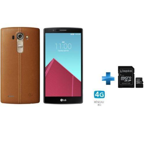 "Smartphone 5.5"" LG G4 + Micro SD Kingston 32 Go classe 10"