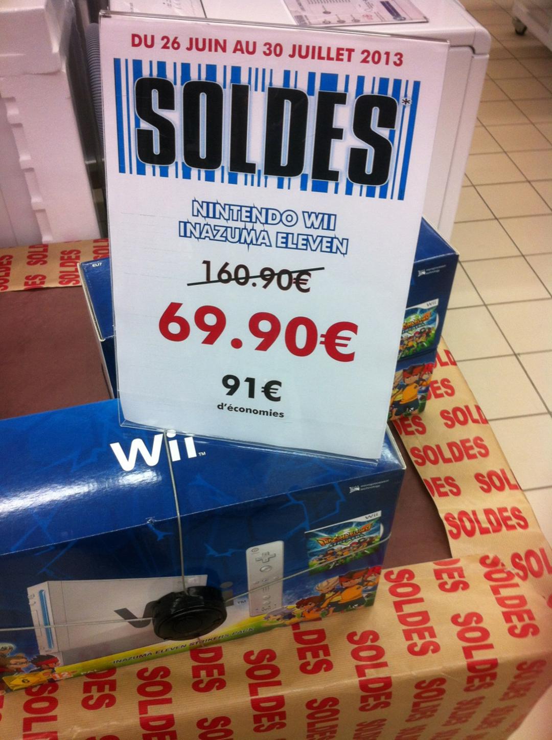 Console Nintendo WII Pack Inazuma Eleven Strikers