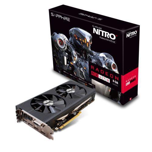 Carte graphique ATI Sapphire Radeon RX 470 Nitro + OC - 8 Go