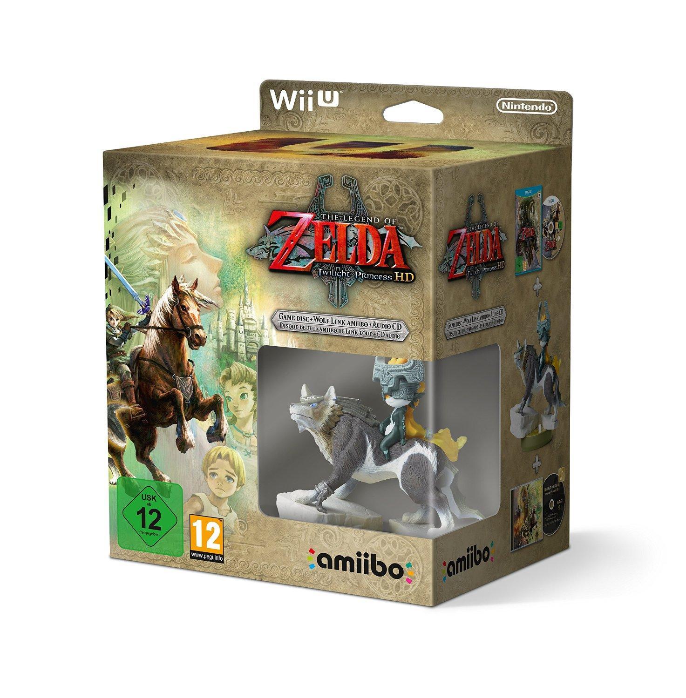 The Legend of Zelda - Twilight Princess HD + Amiibo 'The Legend of Zelda' Link Loup + CD Audio sur Wii U
