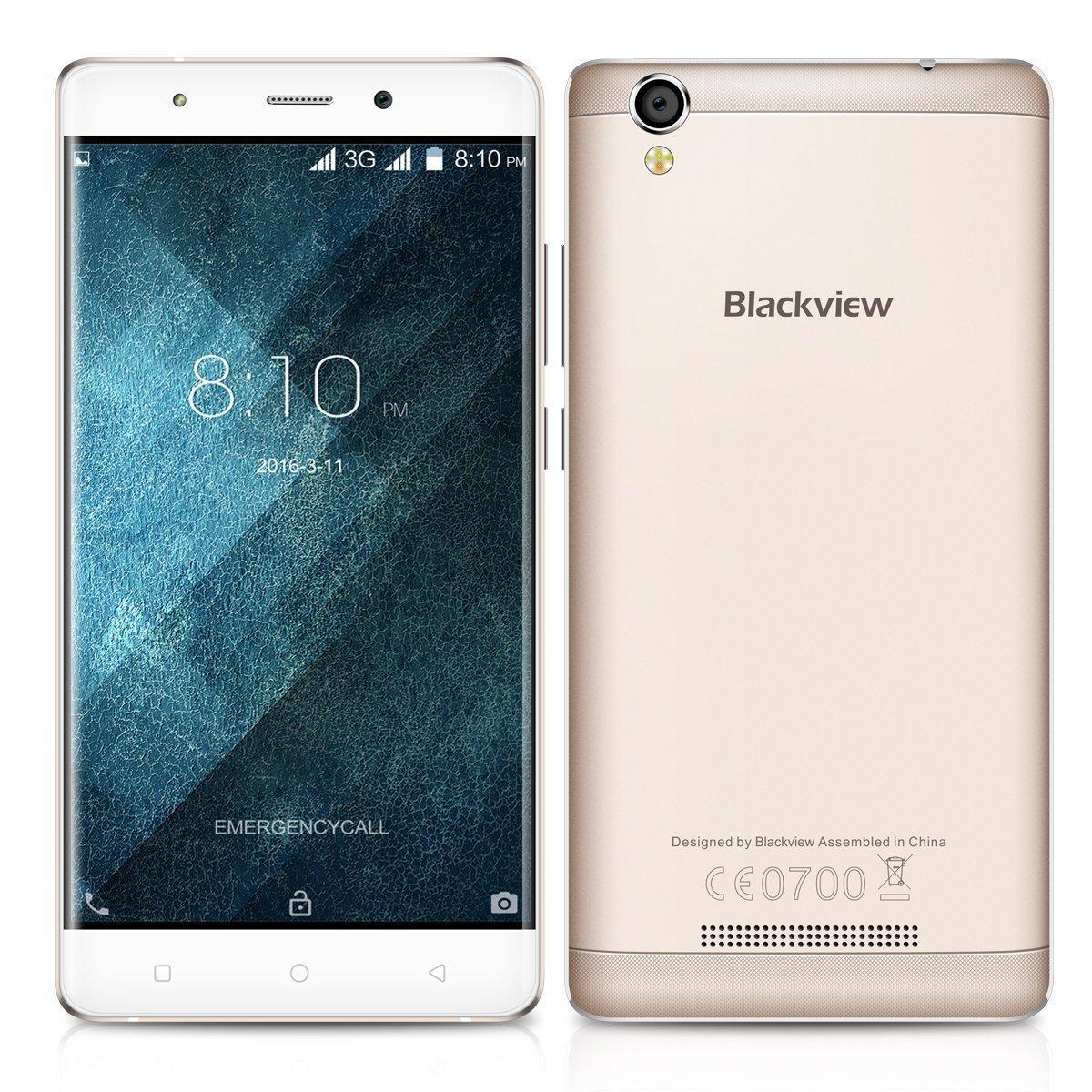 "Smartphone 5"" Blackview A8  (MT6580A, 1 Go RAM, 8 Go ROM, 2050mAh, Double Sim, 3G)"