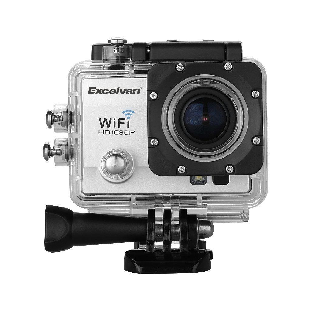 Camera Sport Étanche Excelvan TC-Q5 - Full HD, Noir ou Blanc