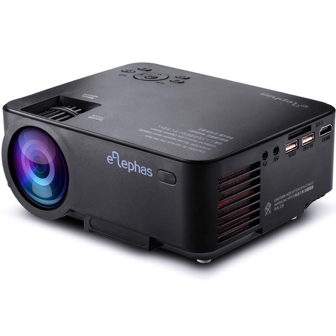 Mini Vidéo Projecteur Elephas LP-X6B - 1500 lumens, 800 x 480P