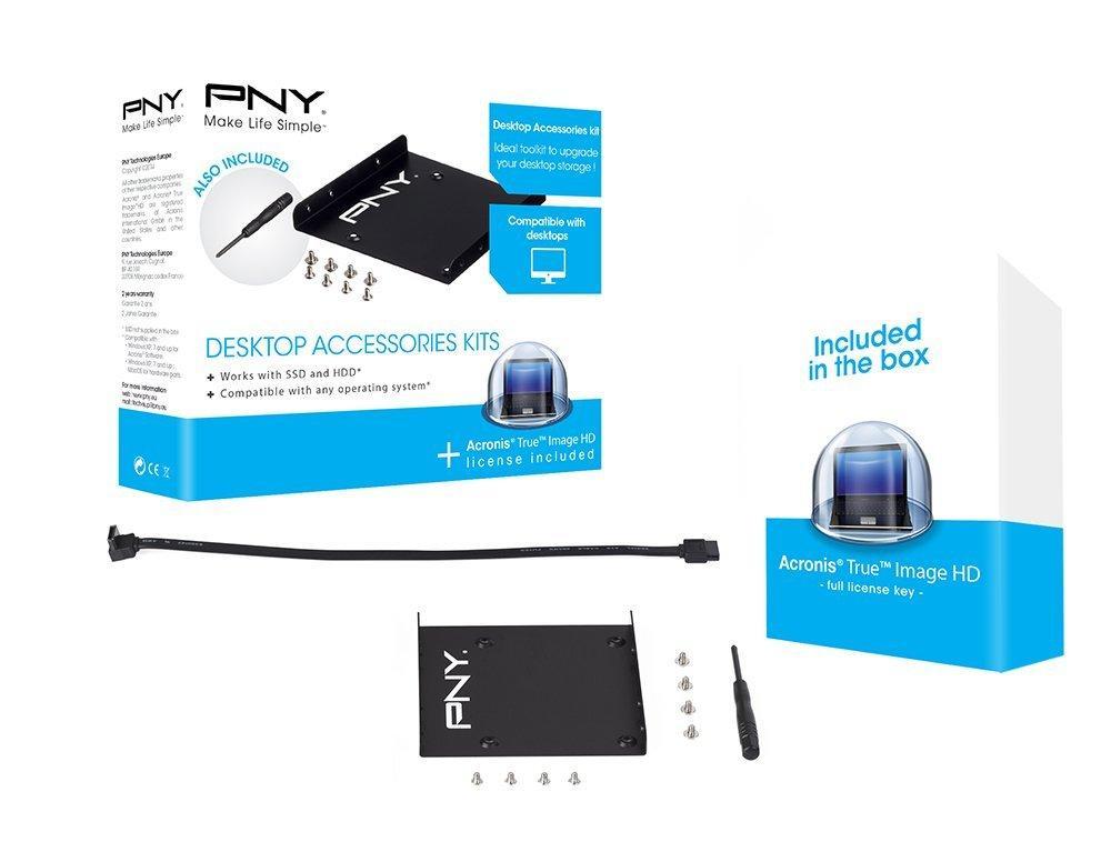 Kit de montage PNY pour SSD + Logiciel de clonage Acronis True Image HD