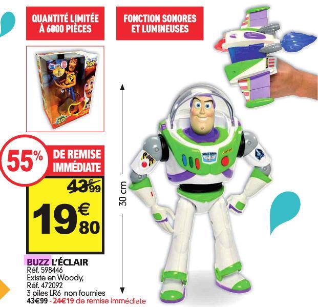 Figurine Toy Story - Buzz l'éclair ou Woody