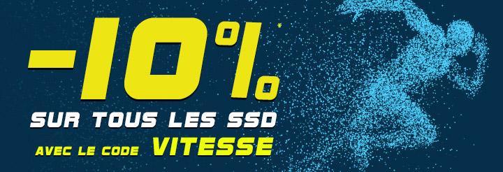 10% de réduction sur tous les SSD