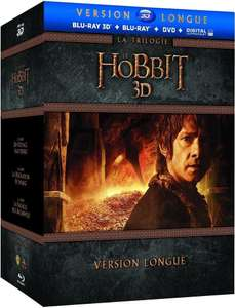 Coffret Blu-Ray 3D + Blu Ray + DVD - Le Hobbit - La trilogie (version longue)