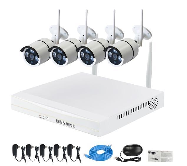 Système de 4 caméras de surveillance sans-fil ZModo ZMKW9005 (720p)