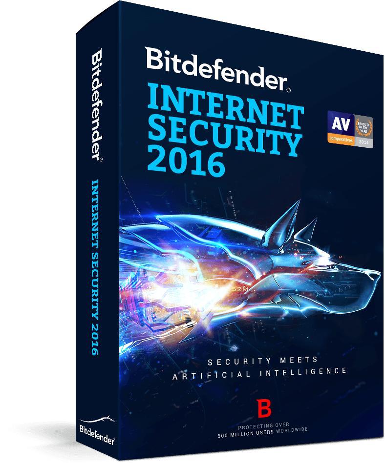 Antivirus Bitdefender Internet Security 2016 - Licence de 6 mois gratuite (via VPN)