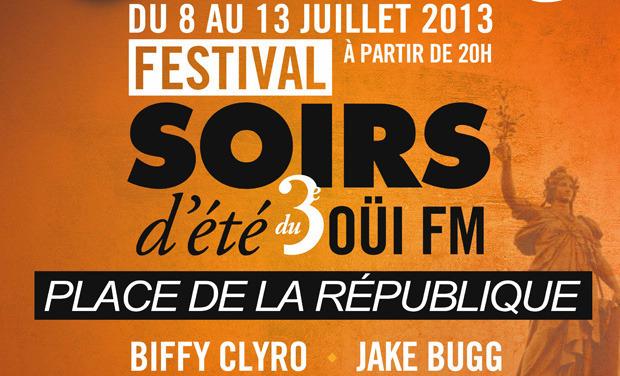 15 concerts gratuits Festival Soirs d'été  (Biffy Clyro, Babyshambles, Eiffel, ...)