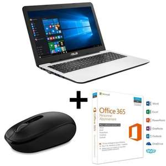 "PC Portable 15.6"" Asus X554LJ-XX1470T - Intel i5-5200U, 4Go de RAM, 1To + Souris Microsoft + Office 365"