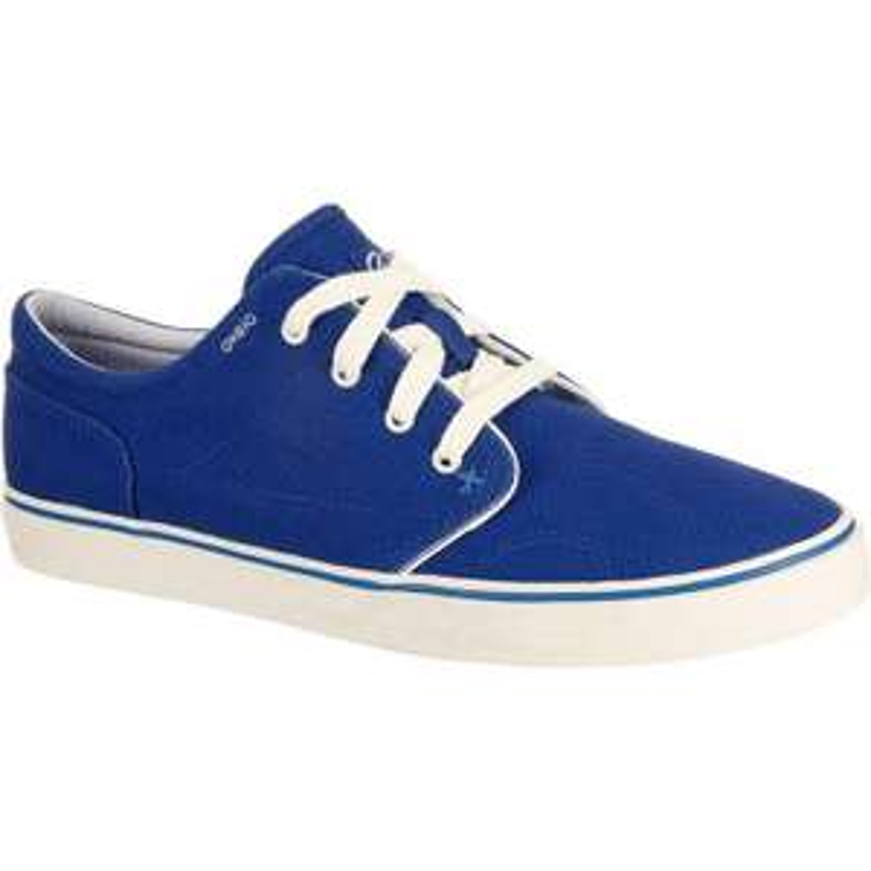 Chaussures basses skateboard-longboard adulte Vulca Canvas  bleu Oxelo