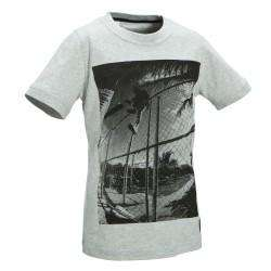 T-shirt manches courtes skateboard adulte Picture Bowl gris Oxelo